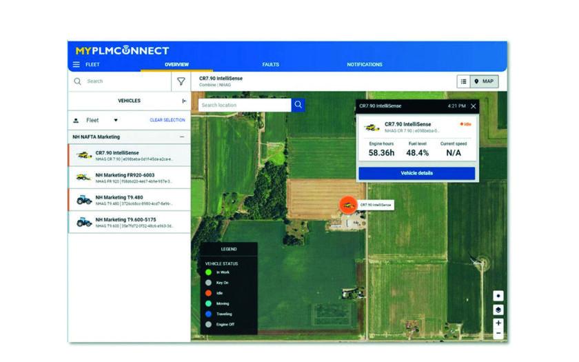 New Holland aggiorna MyPLM Connect Farm screenshot