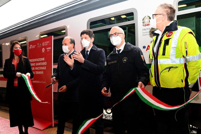 Inaugurazione convoglio sanitario FS italiane