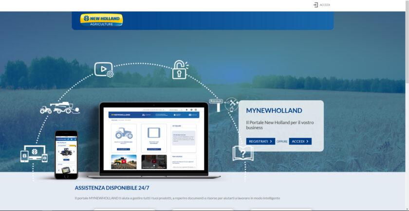 New Holland aggiorna MyPLM Connect Farm portale